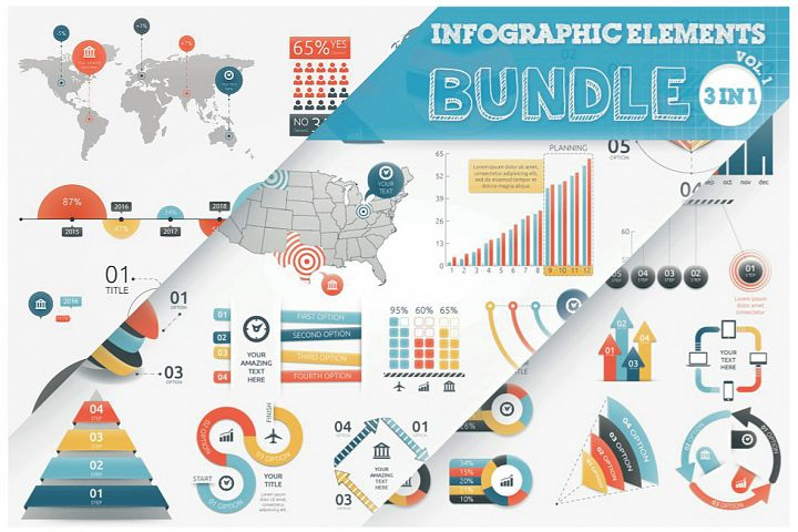 Infographic Elements Bundle 3 in 1 (vol 1)