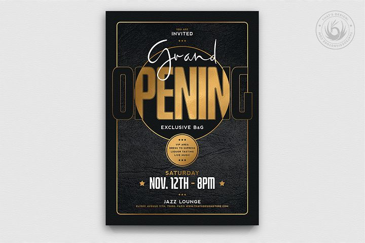 Black and Gold Flyer Template V16