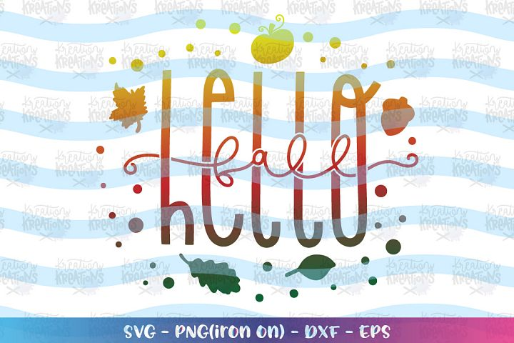 Fall SVG Hello Fall svg Fall sayings elements Autumn