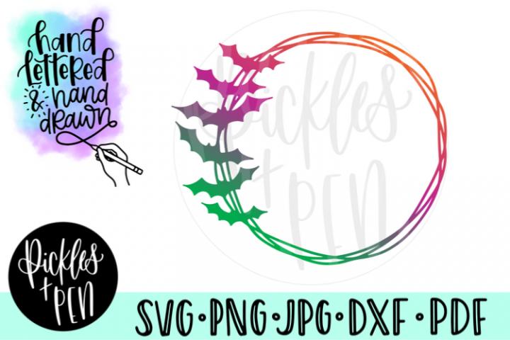 Bat Wreath - Fall Frame SVG