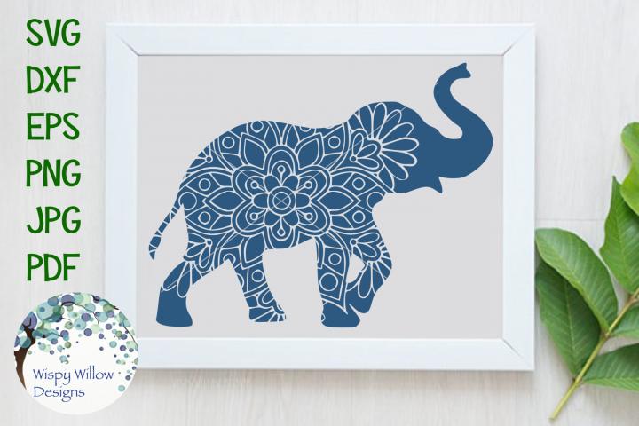 Elephant Mandala | Animal Mandala SVG Cut File