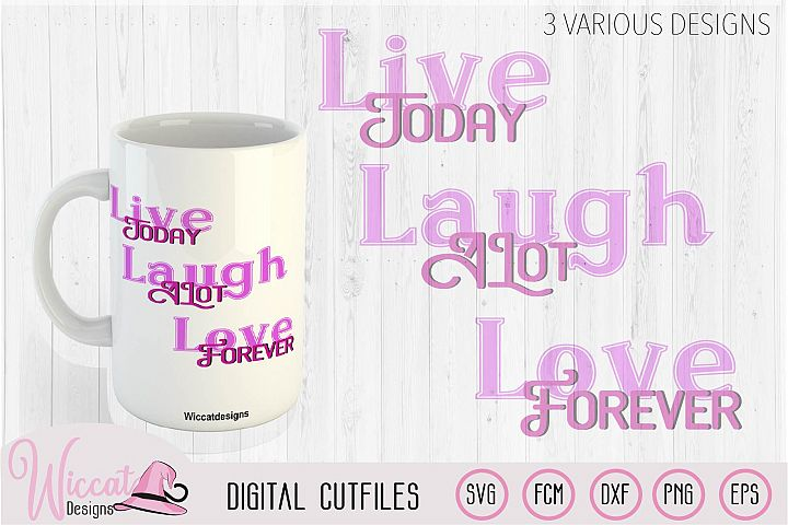 Svg Quote, live today svg, Inspirational svg, mug svg,