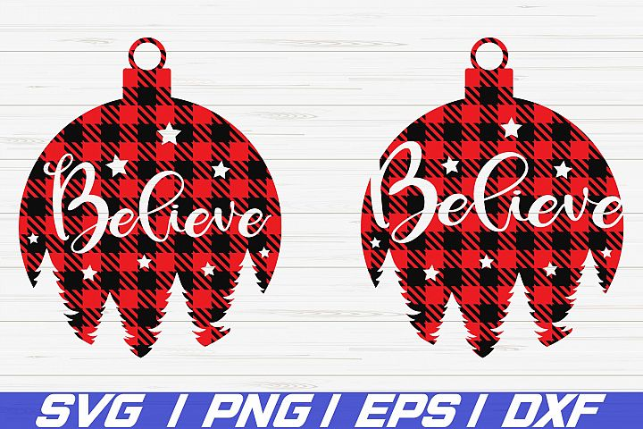 Believe SVG / Christmas SVG / Cricut / Cut File / Clip art