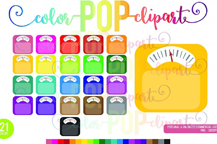 Scale Clipart Weightloss Healthy Fitness Weight Tracker Rainbow PNG Planner Sticker Clipart Graphics Planner Sticker Icon Commercial Use