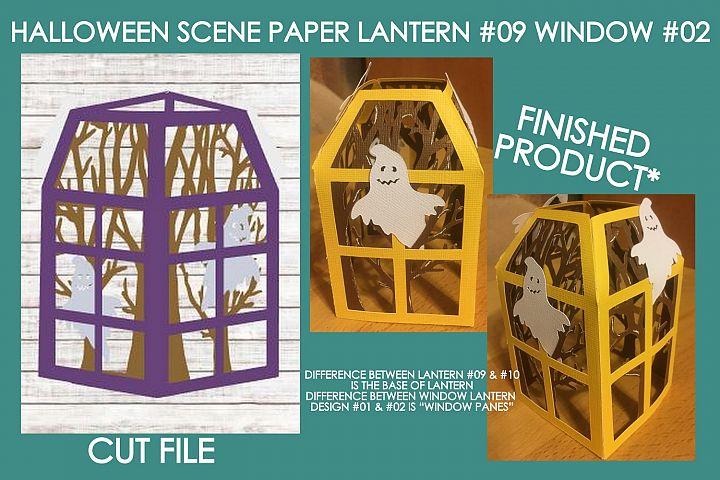 Halloween Scene 01 3D Paper Lantern #09 Design #02 Cut File