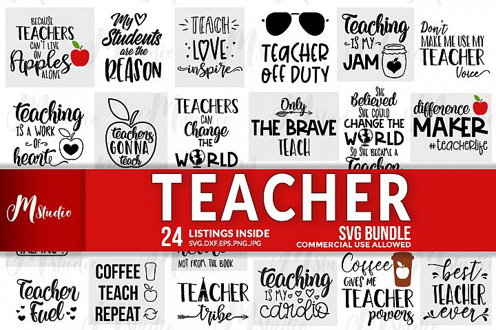 Teacher SVG Bundle.