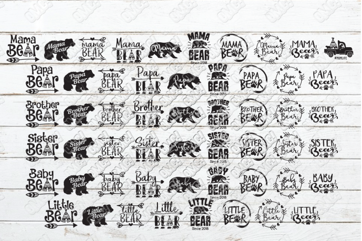 Bear Family SVG Bundle