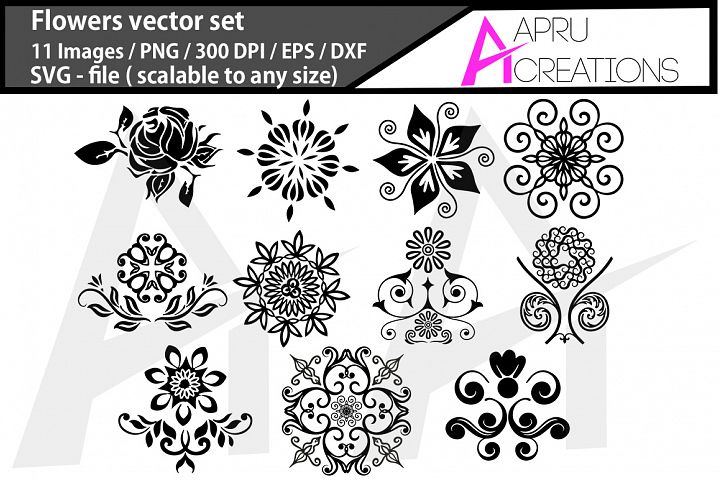flowers black svg / papercutting flowers silhouette