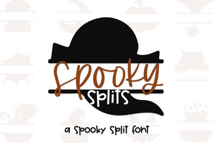 Spooky Splits - A Fun Halloween Doodles Split Font