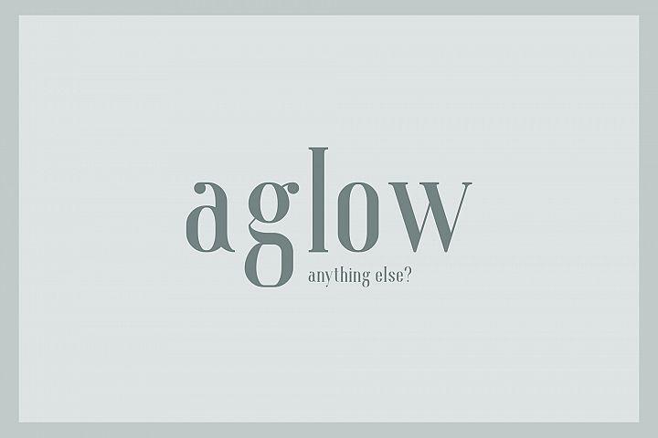 Aglow Serif - 4 Style