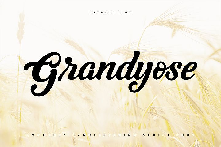 Grandyose   Smoothly Handlettering Script Font