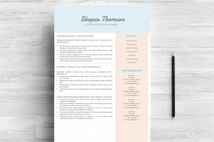 Professional Resume Template Word - Free Design of The Week Design0