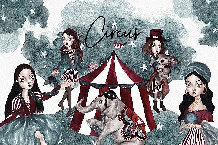 Circus Watercolor Set