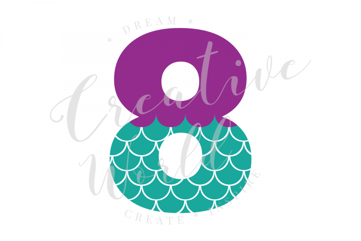 My 8th Birthday Mermaid SVG | Mermaid Birthday Girl svg