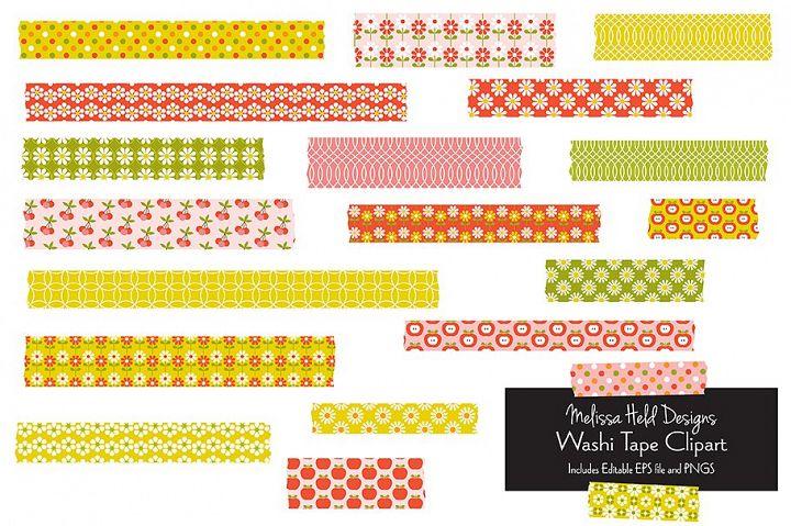 Vintage Pattern Washi Tape Clipart