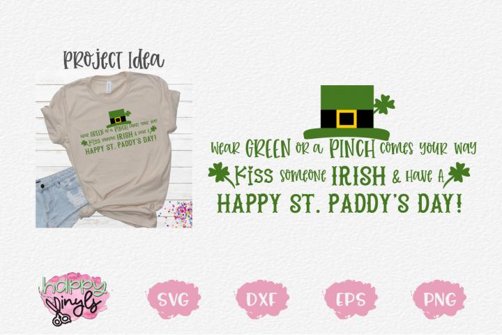 Wear Green On St Patricks Day - A St Patricks Day SVG