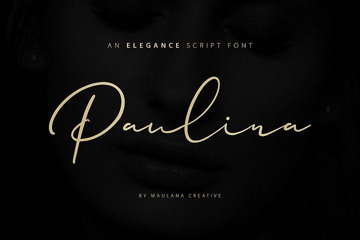Paulina Elegance Script Font