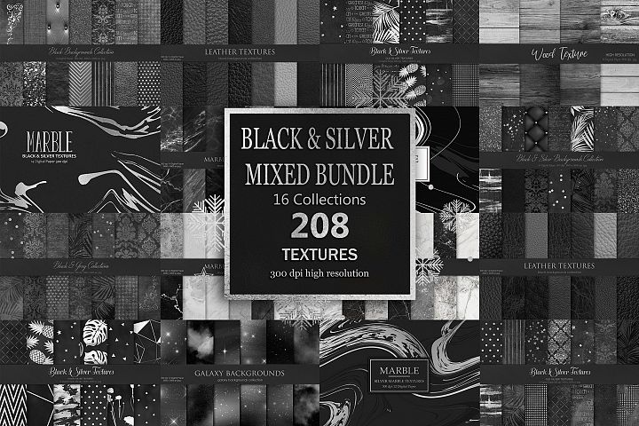 Black Silver Mixed Bundles 208 Textures