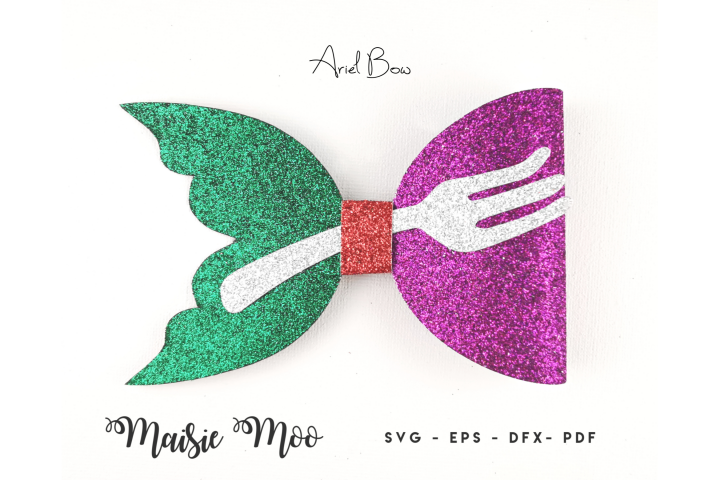 Mermaid Tail Bow Template SVG, Mermaid Bow SVG,