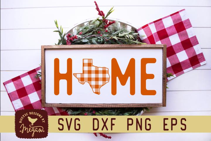 Texas Buffalo Plaid State Home Sans Christmas SVG
