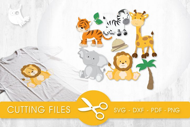 Safari Animals cutting files svg, dxf, pdf, eps included - cut files for cricut and silhouette - Cutting Files SG