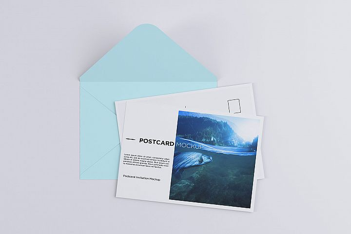 Postcard Invitation Mock-up 7x5