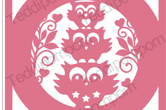 Owl Frame SVG PNG paper cutting file