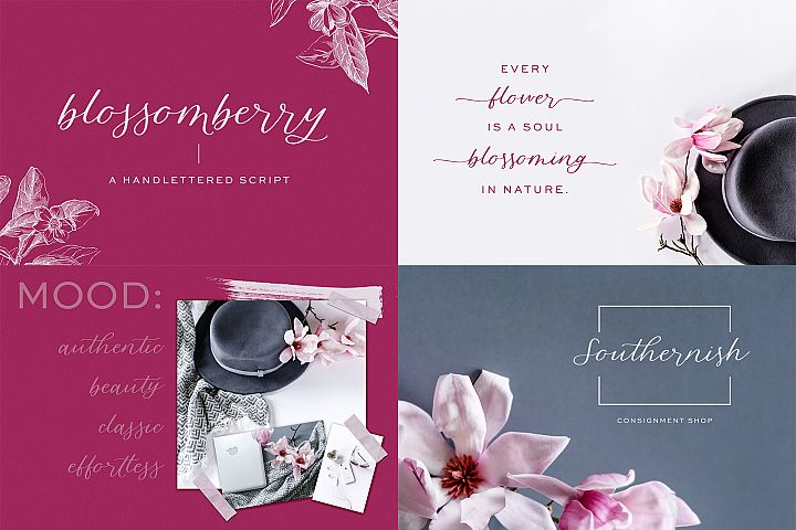 The Chic Calligraphy Font Bundle example image 2