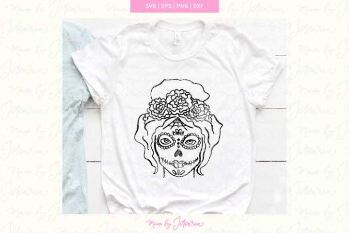 Sugar skull svg, day of the dead svg, dia de los muertos svg