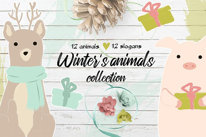 Winters cute animals