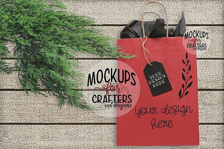 Gift Tag & Gift Bag Mock-Up DUO