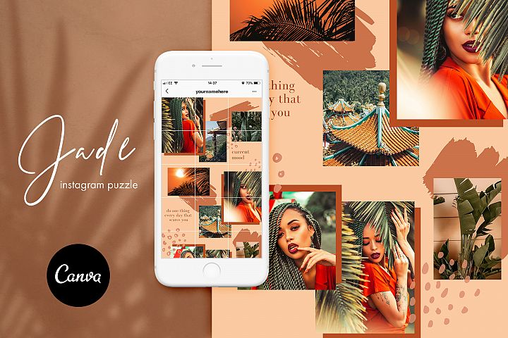 Instagram split grid template for Canva