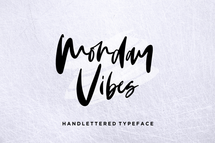 Monday Vibes - Handwritten Font