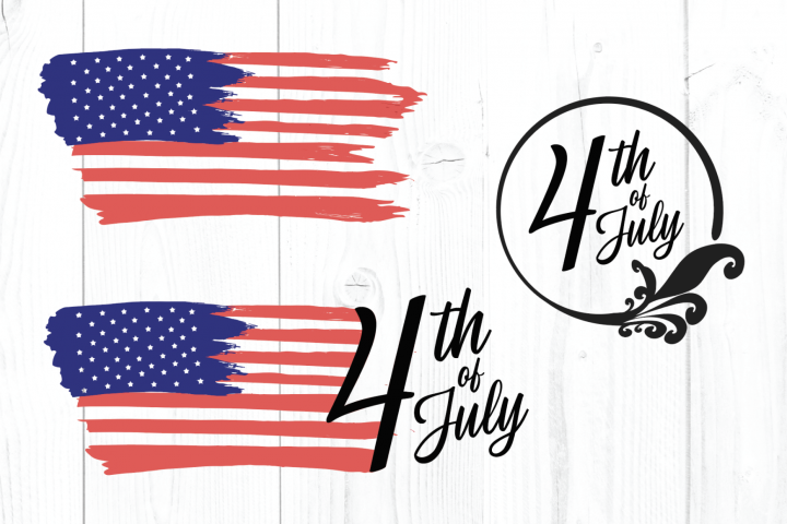 4th of July SVG, American Flag SVG, USA