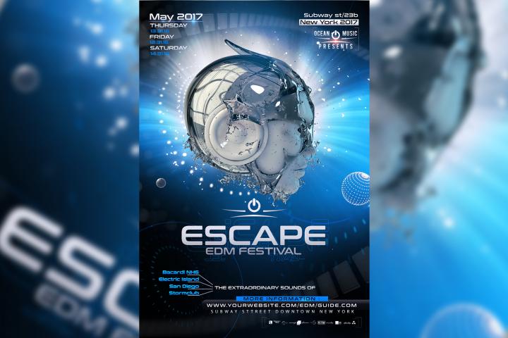 Escape EDM Flyer Template