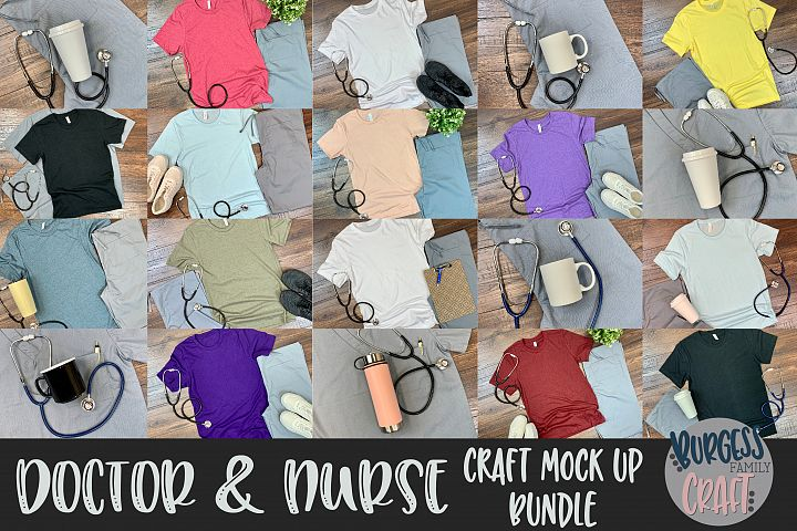 Doctor & Nurse Craft mock up Bundle
