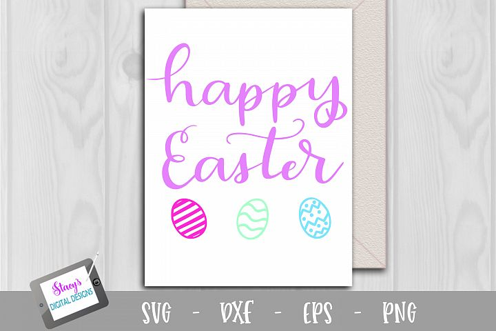 Happy Easter SVG - Handlettered cut file example