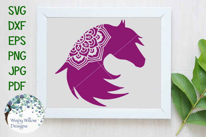 Horse Mandala, Animal Mandala SVG Cut File