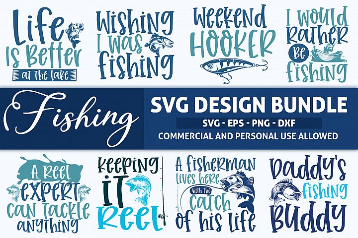Fishing SVG Design Bundle Vol 1