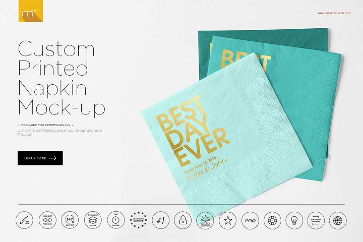 Custom Printed Napkin Mock-up