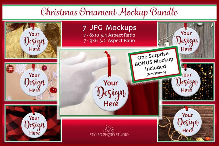 Christmas Ornament Mockup Bundle, Ornament Mock Up JPGS