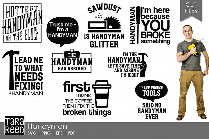 Handyman SVG and Cut Files for Crafters