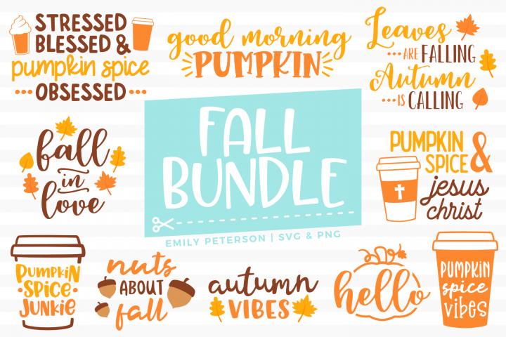 Fall Bundle 10 Designs SVG DXF EPS PNG