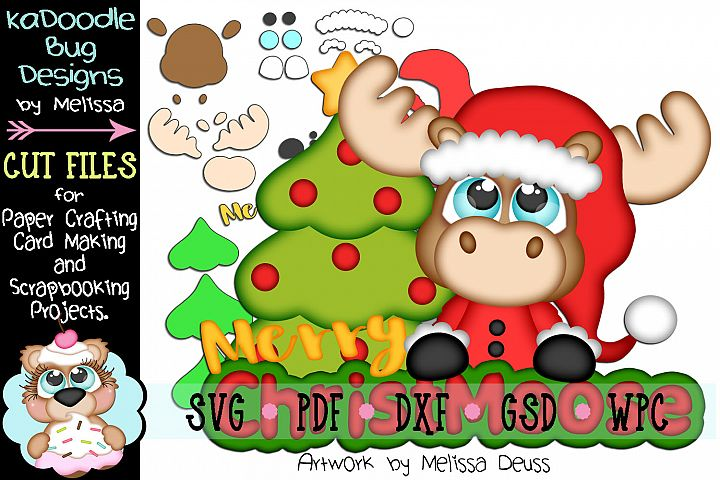 Merry ChristMoose Cut File - SVG PDF DXF GSD WPC