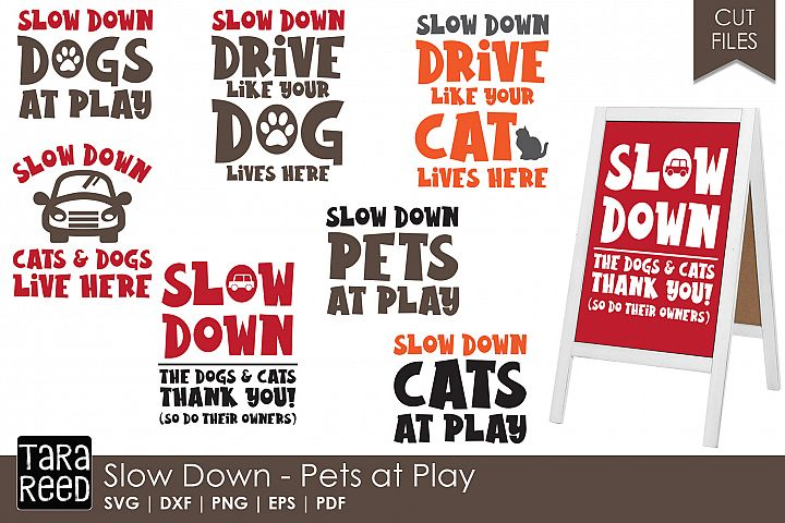 Pets at Play Signs - Safety SVG and Cut Files for Crafters