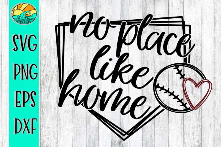 No Place Like Home - Heart - SVG - DXF - EPS - PNG