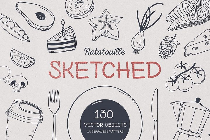 Ratatouille Sketched