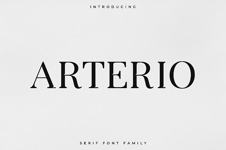Arterio Font Family - Serif