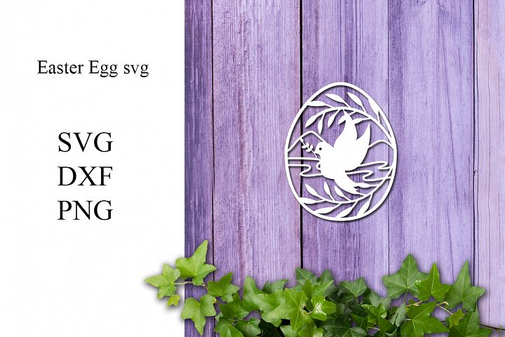 Easter Egg SVG DXF PNG - For Crafters