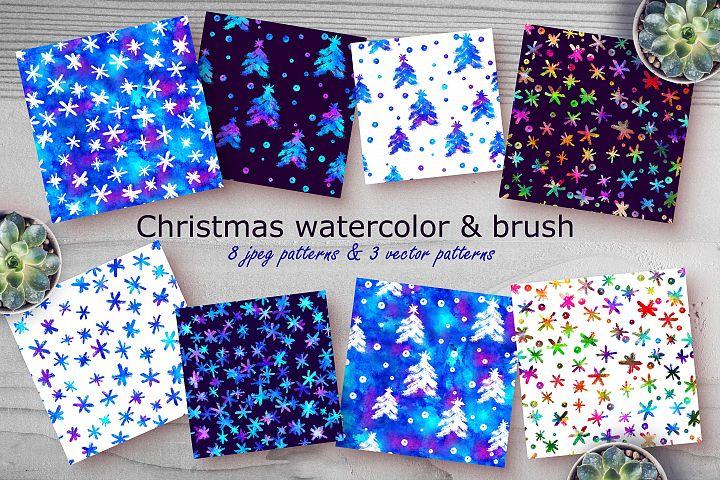 Christmas Watercolor & Brush